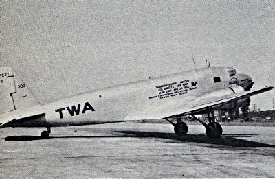 "TWA's ""Old 300"" NC223Y...1st and only DC1. On Sept. 20, 1932"